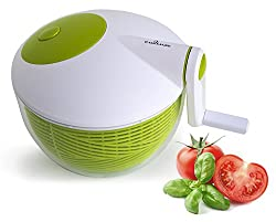 Culina Space saver Compact Salad Spinner, 3Qt. BPA-Free.