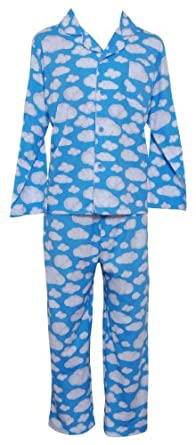 Sleepyheads Men's Clouds Blue Lounger Pajama (3X)