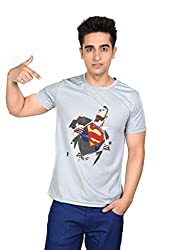 LetsFlaunt Super Human T-shirt Grey Guys Dry-Fit-Small Nw
