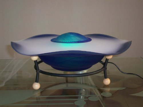 Blue Table Top Mist fountain with an inline and remote control