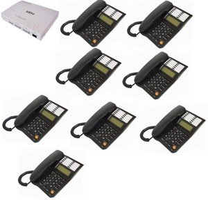 Orchid Analogue 3 Line PBX308+ Telephone System with 8 Office Telephones images