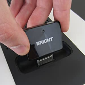 BrightPlay 30 Pin Bluetooth Audio Receiver/ Adapter for iPhones and iPods by BRIGHT