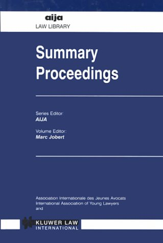Summary Proceedings (AIJA Law Library)