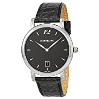 Montblanc Star Classique Black Dial Black Leather Mens Watch 108769 from Montblanc