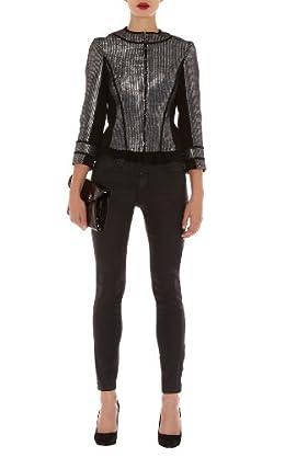 Modern Metallic Tweed Jacket