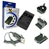 Ex-Pro CRV3, CR-V3, C-RV3, RV3, Digital Camera Travel Charger, UK, USA, Canada & Europe - 2 Hour Fast Charge for Sigma Digital Camera's