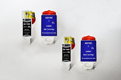 AD-10 Printing Saver pacchetto di 4 cartucce di inchiostro compatibili per ADVENT A10, AW10, AWP10 stampanti