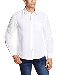 Proline Men's Casual Shirt (8907007298718_PS112_Small_White)