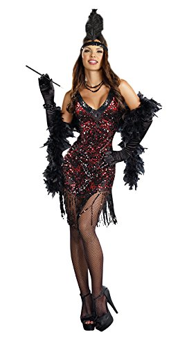 Dreamgirl Women's Sexy Dazzling Flapper Costume, Dames Like Us