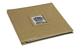 Martha Stewart Crafts 12-by-12-Inch Album, Glitter Gold