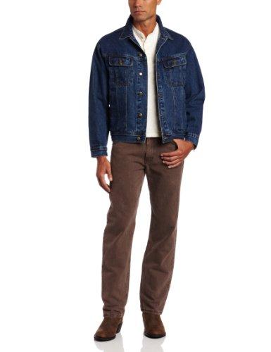 Wrangler Men'S Rugged Wear Unlined Denim Jacket,Antique Indigo,Medium