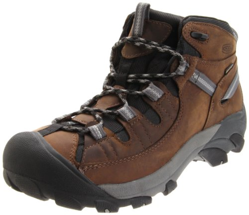KEEN Men's Targhee II Mid Waterproof Hiking Boot,Dark Earth/Neutral Gray,11.5 M US