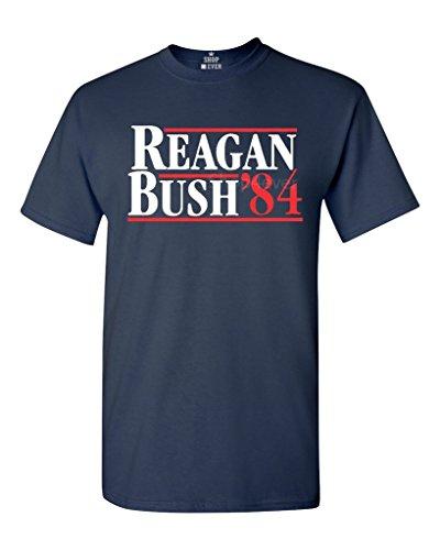 Reagan Bush 84 T-shirt Republican Presidential Campaign Shirts X-Large Navy (Bush Campaign compare prices)