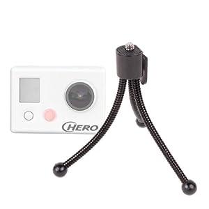 Trépied de poche flexible DURAGADGET pour caméscope Go Pro 2 et 3 tous modèles (Hero,HD, Naked, Outdoor,Motosport, Surf et Professional)