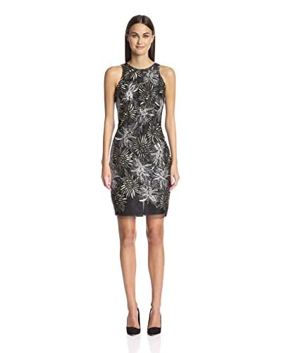 Alexia Admor Women's Embroidered Metallic Lace Cocktail Dress