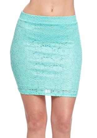 2B Metallic Lace Crochet Skirt 2b Skirts Seafoam-xl