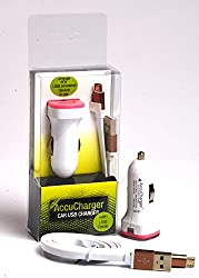 Accucharger IIP-SCC-301 Car Charger with High Speed Micro USB cable