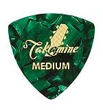 Takamine トライアングル ピック セルロイド グリーン・パール Medium P1G-M