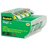 Scotch(R) Magic(TM) Tape In Dispensers, 3/4in. x 300in., Pack Of 4