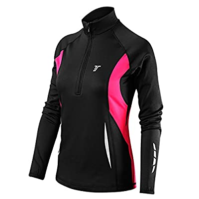 Thorogood Sports Winter Run Women's Half-Zip Long Sleeve Running Top by Thorogood Sports
