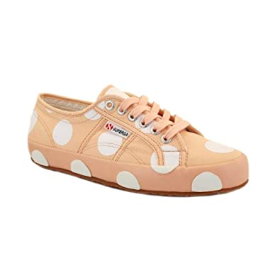 Superga vs House of Holland 2750 Womens Laced Canvas Trainers Pink White - 8