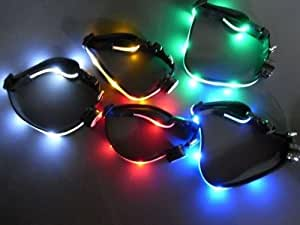 iclever®Collier Lumineux à rouge LED pour Chiens avec la taille réglable