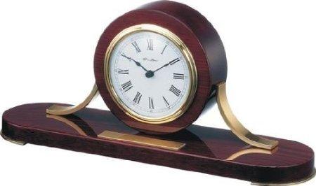 New Haven Piano Mahogany Wood Mantle Clock