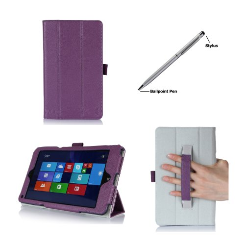 Procase Lenovo Thinkpad 8 Case (Windows 8.1) With Bonus Stylus Pen - Smart Cover Case With Stand For Thinkpad 8 Tablet (Windows 8.1) (Purple)