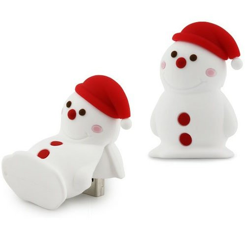 Bone Collection/ボーンコレクション USBフラッシュメモリ 4GB Snowman Driver(雪だるま) ホワイト DR10061-4W