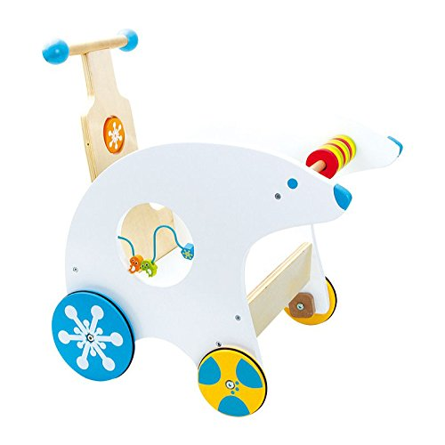 Small Foot Company 4758 - Lauflernwagen Eisbär, Babyspielzeug