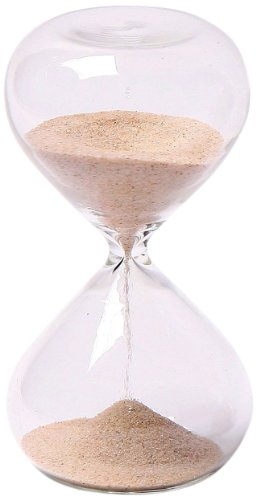 G.W. Schleidt STC10-N 4-Inch 5-Minute Glass Sand Timer with Natural Sand