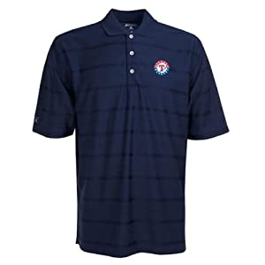 Texas Rangers Polo - MLB Antigua Mens Tone Navy by Antigua