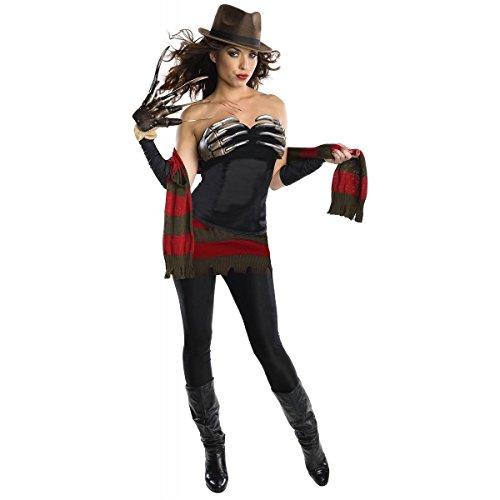 [GSG Freddy Krueger Costume Adult Sexy Scary Halloween Fancy Dress] (Women Freddy Krueger Costumes)