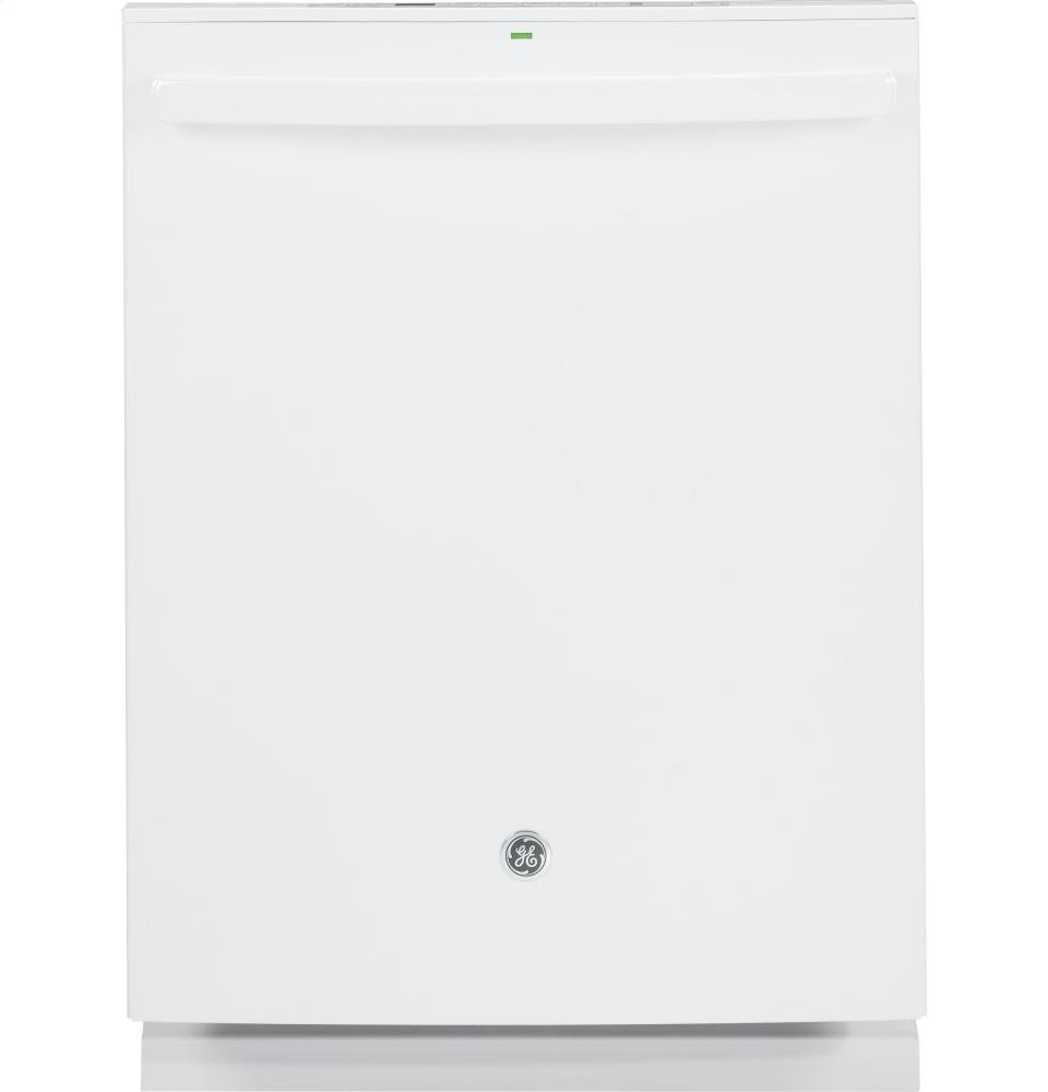 "GE GDT590SGJWW 24"" Energy Star Built In Dishwasher with 16 Place Settings in White"