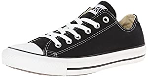CONVERSE Women's Chuck Taylor Low Top Sneaker (Black 9.0 M)