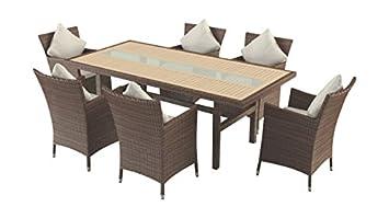 Artelia Ensemble Table Et Et Chaises R Sine Tress E Plateau Bois Composite Yamuna