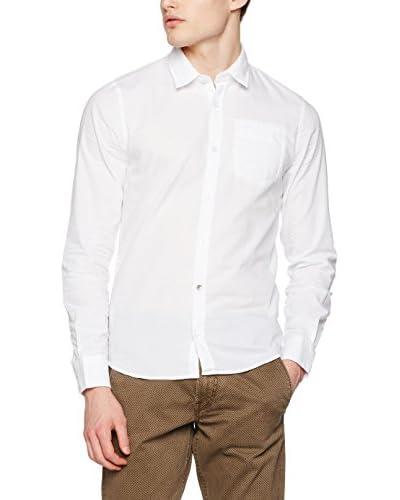 Guess Camicia Uomo Ls Jacquard [Bianco Ottico]