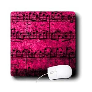 Yves Creations Musical Notes - Musical Interlude in Pink - Mouse Pads