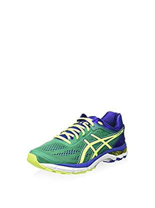 Asics Zapatillas Gel-Pursue 2 (Verde / Amarillo / Azul)