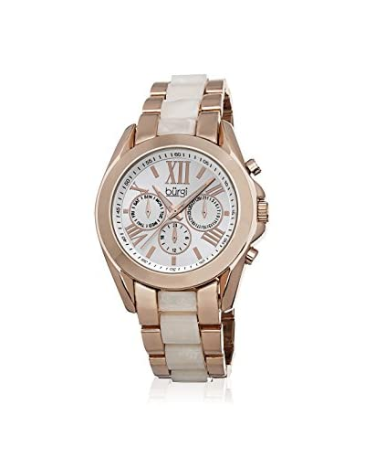 Burgi Women's BUR094RG Rose and Cream/Silver Base Metal Watch