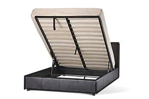 Storage Bed Faux Leather 3ft Standard Single Ottoman Prado Chocolate