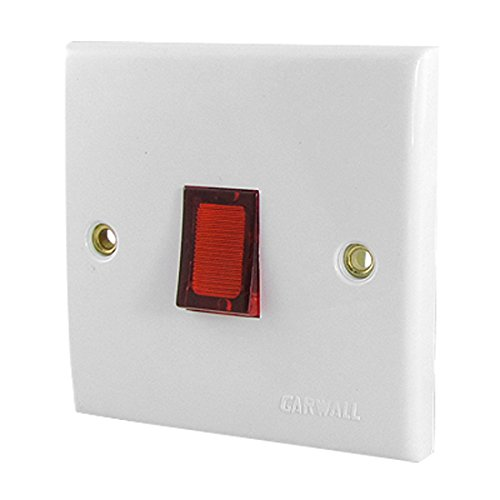 Ac 250V 20A 2 Phase Wall Mounted Illuminated Cooker Switch