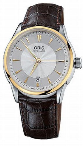 Oris Artelier Date Gold Tone Stainless Steel Mens Watch 733-7591-4351LS