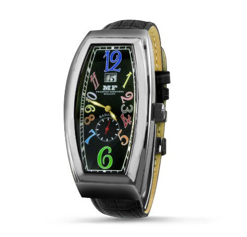 Franchi Menotti Men's 5001 Banana Collection Black with Numbers Dial Watch