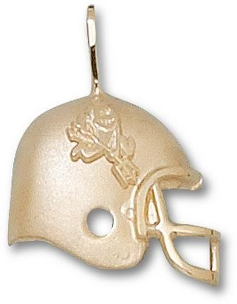 Arizona State Sun Devils Sparky Helmet Pendant - 14KT Gold Jewelry by Logo Art