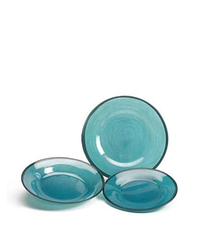 Pasabahce Set de 18 Piezas Vajilla Hypno Azul