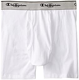 Champion Men's 3-Pack Boxer Brief, White, Large