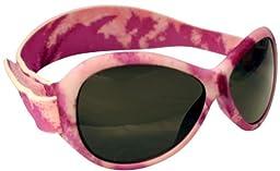 Kidz Banz Retro Banz Oval Kidz Sunglasses, Pink Diva Camo 2-5 Years