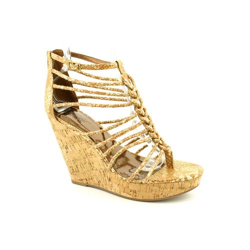Bronze Wedge Sandals front-1021653
