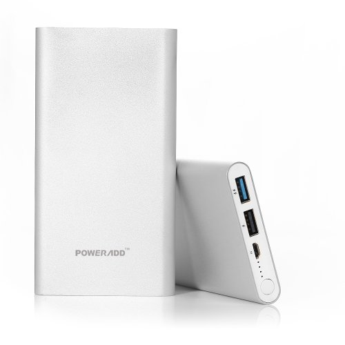 Poweradd™ Pilot 2Gs 10000Mah Dual Usb Portable Charger Backup Battery Pack With Quick Charge And Aluminum Body Design For Iphone 5S 5C 5 4S, Ipad Air Mini Retina, Samsung Galaxy S5 S4 S3, Note 3 2,Htc One, Nexus 5, Lg Optimus,Other Smartphones And Tablets